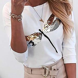 Dragonfly sequin shirt